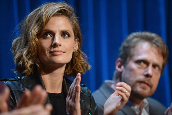 Stana Katic appears at a &#39;Castle&#39; event at the Paley Center in Los Angeles, California on Sept. 30, 2013. <span class=meta>(Kevin Parry for Paley Center)</span>