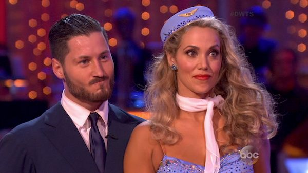 Elizabeth Berkley and Val Chmerkovskiy danced the Foxtrot on week three of &#39;Dancing With The Stars&#39; on Sept. 30, 2013. They received 25 out of 30 points from the judges. <span class=meta>(ABC)</span>