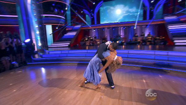 Elizabeth Berkley and Val Chmerkovskiy dance the Foxtrot on week three of &#39;Dancing With The Stars&#39; on Sept. 30, 2013. They received 25 out of 30 points from the judges. <span class=meta>(ABC)</span>