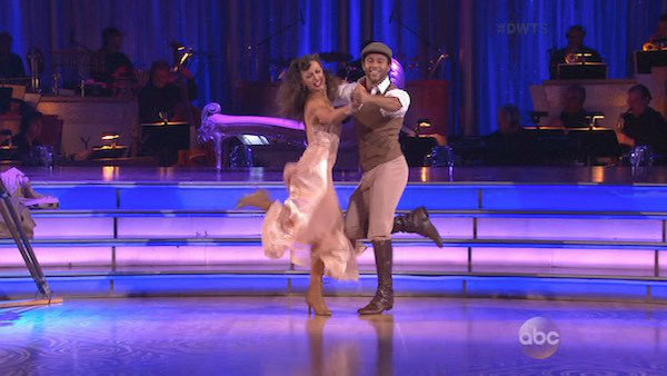"<div class=""meta image-caption""><div class=""origin-logo origin-image ""><span></span></div><span class=""caption-text"">Corbin Bleu and Karina Smirnoff dance the Quickstep on week three of 'Dancing With The Stars' on Sept. 30, 2013. They received 26 out of 30 points from the judges. (ABC)</span></div>"
