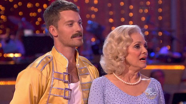 "<div class=""meta image-caption""><div class=""origin-logo origin-image ""><span></span></div><span class=""caption-text"">Valerie Harper and Tristan MacManus danced the Cha Cha Cha on week three of 'Dancing With The Stars' on Sept. 30, 2013. They received 16 out of 30 points from the judges. (ABC)</span></div>"