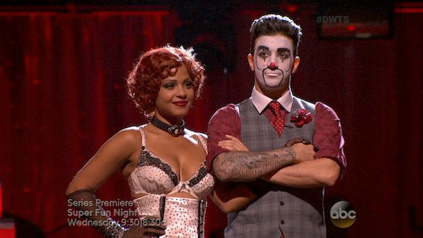 Christina Milian and Mark Ballas await their fate on week three of &#39;Dancing With The Stars&#39; on Sept. 30, 2013. They received 26 out of 30 points from the judges for their Charleston. <span class=meta>(ABC)</span>