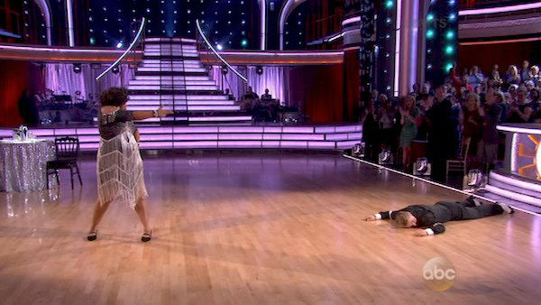 "<div class=""meta ""><span class=""caption-text "">Amber Riley and Derek Hough dance the Charleston on week three of 'Dancing With The Stars' on Sept. 30, 2013. They received 24 out of 30 points from the judges. (ABC)</span></div>"