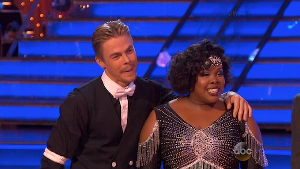 Amber Riley and Derek Hough danced the Charleston on week three of &#39;Dancing With The Stars&#39; on Sept. 30, 2013. They received 24 out of 30 points from the judges. <span class=meta>(ABC)</span>