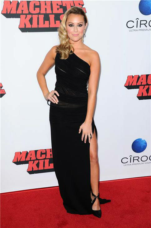 Alexa Vega appears at the 'Machete Kills' premiere in Los Angeles, California on Oct. 2, 2013.