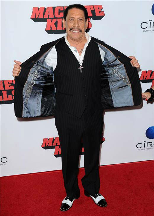 Danny Trejo appears at the 'Machete Kills' premiere in Los Angeles, California on Oct. 2, 2013.