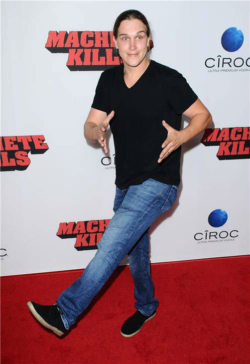 Jason Mewes appears at the 'Machete Kills' premiere in Los Angeles, California on Oct. 2, 2013.