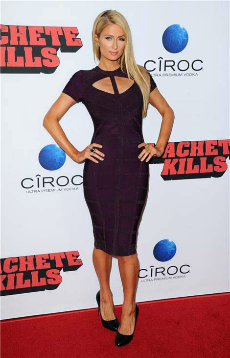 "<div class=""meta image-caption""><div class=""origin-logo origin-image ""><span></span></div><span class=""caption-text"">Paris Hilton appears at the 'Machete Kills' premiere in Los Angeles, California on Oct. 2, 2013. (Sara De Boer / startraksphoto.com)</span></div>"