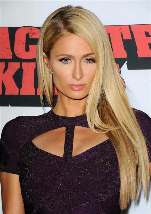 Paris Hilton appears at the 'Machete Kills' premiere in Los Angeles, California on Oct. 2, 2013.