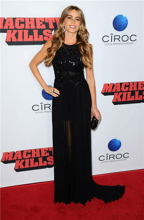 Sofia Vergara appears at the &#39;Machete Kills&#39; premiere in Los Angeles, California on Oct. 2, 2013. <span class=meta>(Sara De Boer &#47; startraksphoto.com)</span>