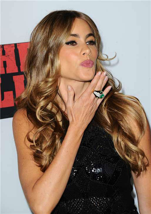 Sofia Vergara appears at the 'Machete Kills' premiere in Los Angeles, California on Oct. 2, 2013.