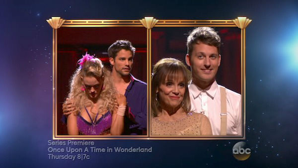 "<div class=""meta image-caption""><div class=""origin-logo origin-image ""><span></span></div><span class=""caption-text"">Brant Daugherty, Peta Murgatroyd, Valerie Harper and Tristan MacManus await their fate on week four of 'Dancing With The Stars' on Oct. 7, 2013. (ABC Photo)</span></div>"