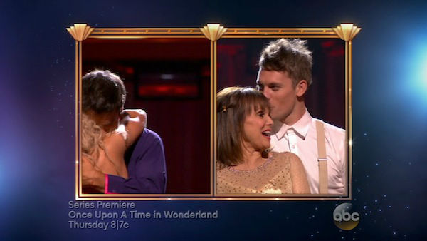Valerie Harper and Tristan MacManus react to being eliminated on week four of &#39;Dancing With The Stars&#39; on Oct. 7, 2013. They received 18 out of 30 points from the judges for their Viennese Waltz. <span class=meta>(ABC Photo)</span>