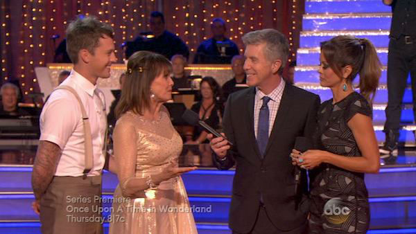 Valerie Harper and Tristan MacManus appear in a still from 'Dancing With The Stars' on Oct