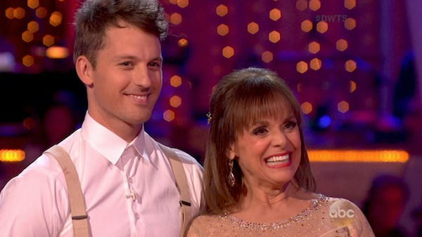 Valerie Harper and Tristan MacManus danced the Viennese Waltz on week four of &#39;Dancing With The Stars&#39; on Oct. 7, 2013. They received 18 out of 30 points from the judges. <span class=meta>(ABC Photo)</span>