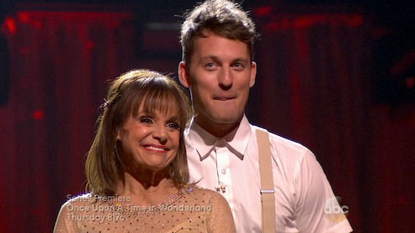 Valerie Harper and Tristan MacManus await their fate on week four of &#39;Dancing With The Stars&#39; on Oct. 7, 2013. They received 18 out of 30 points from the judges for their Viennese Waltz. <span class=meta>(ABC Photo)</span>