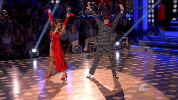 Christina Milian and Mark Ballas dance the Foxtrot on week four of &#39;Dancing With The Stars&#39; on Oct. 7, 2013. They received 24 out of 30 points from the judges. <span class=meta>(ABC Photo)</span>