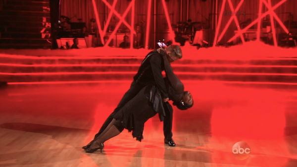 "<div class=""meta ""><span class=""caption-text "">Amber Riley and Derek Hough dance the Tango on week four of 'Dancing With The Stars' on Oct. 7, 2013. They received 27 out of 30 points from the judges. (ABC Photo)</span></div>"