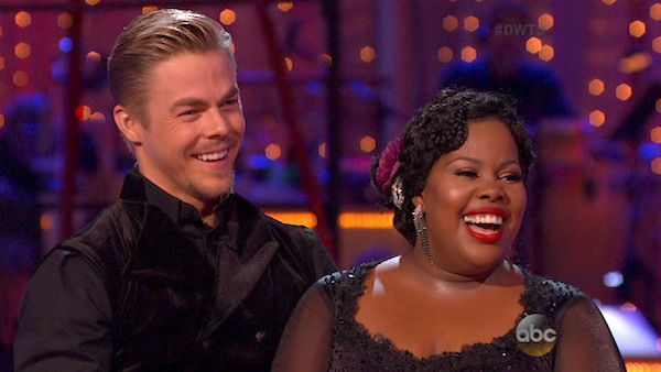 "<div class=""meta ""><span class=""caption-text "">Amber Riley and Derek Hough danced the Tango on week four of 'Dancing With The Stars' on Oct. 7, 2013. They received 27 out of 30 points from the judges. (ABC Photo)</span></div>"