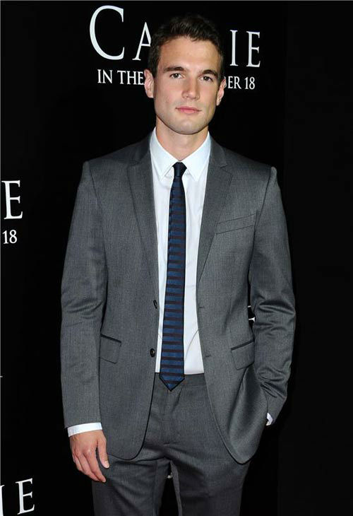 Alex Russell appears at the premiere of 'Carrie' in Los Angeles, California on Oct. 7, 2013.