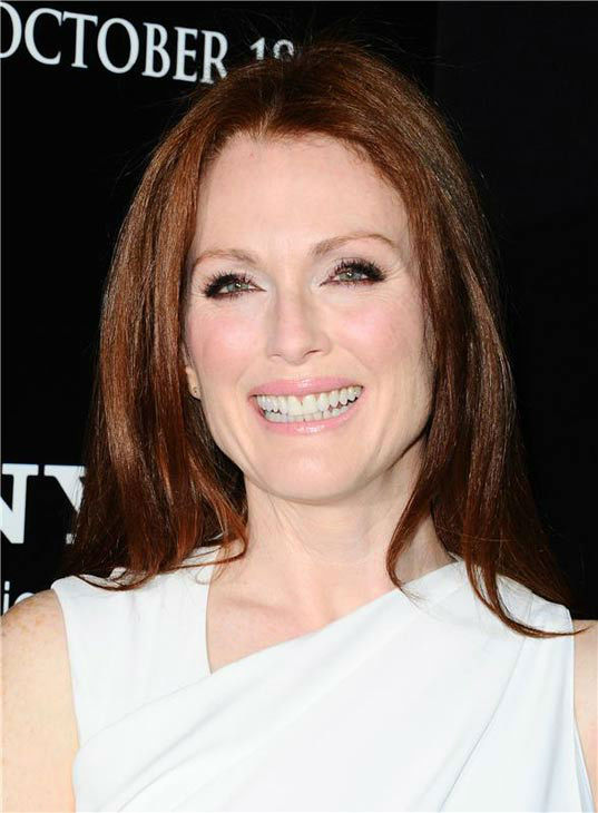 "<div class=""meta ""><span class=""caption-text "">Julianne Moore appears in a white Givenchy gown at the premiere of 'Carrie' in Los Angeles, California on Oct. 7, 2013. (Sara De Boer / startraksphoto.com)</span></div>"
