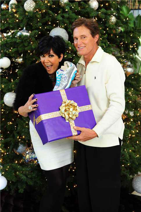 Kris and Bruce Jenner appear in their home in Los Angeles, California for a private holiday photo shoot on Dec. 12, 2010.  <span class=meta>(Albert Michael &#47; startraksphoto.com)</span>