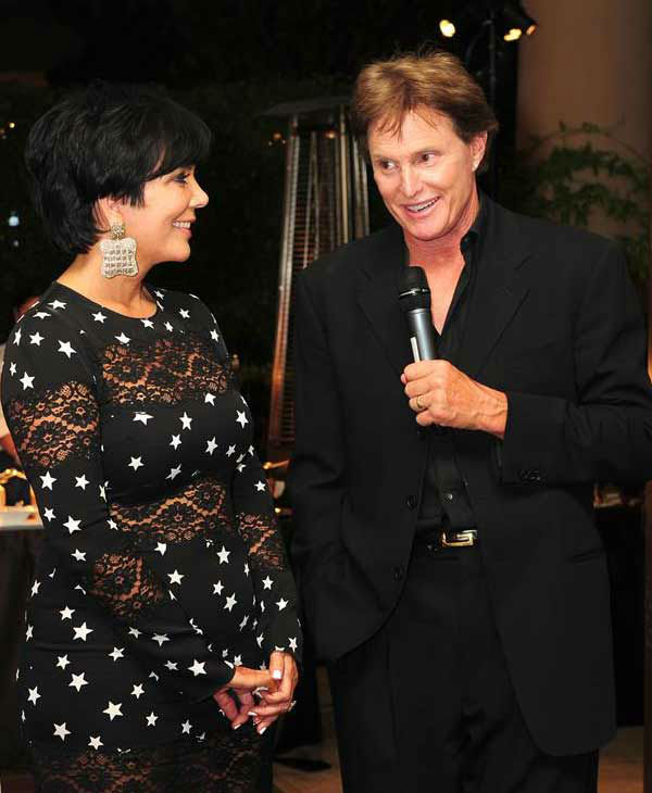 Kris and Bruce Jenner appear at Kim Kardashian and ex-husband Kris Humphries' rehearsal dinner in Los Angeles, California on Aug. 18, 2011.