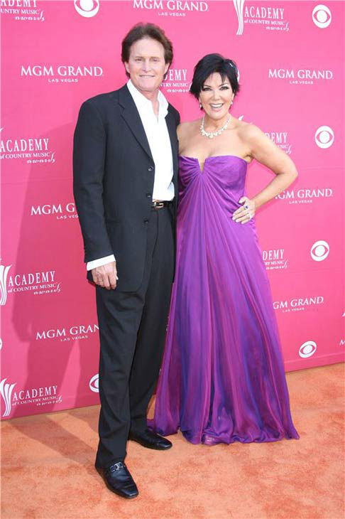 Kris and Bruce Jenner appear at the 44th annual Academy of Country Music Awards in Las Vegas, Nevada on April 5, 2009.