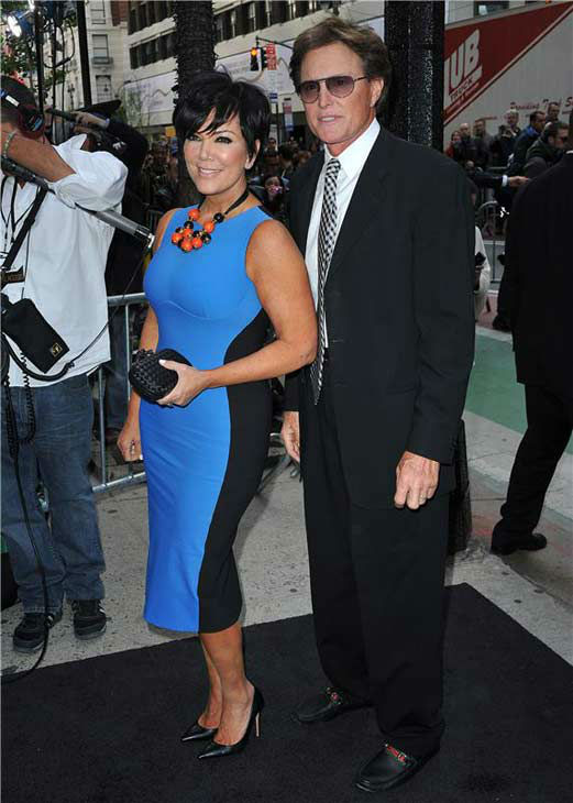Kris and Bruce Jenner appear at the E! 2012 Upfronts in New York City on April 30, 2012.
