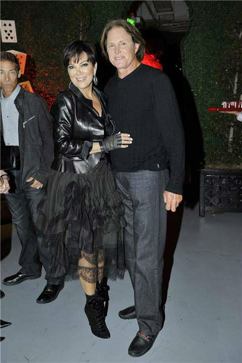 Kris and Bruce Jenner appear at daughter Kylie Jenner's sweet 16 birthday party in Los Angeles, California on Aug. 17, 2013.