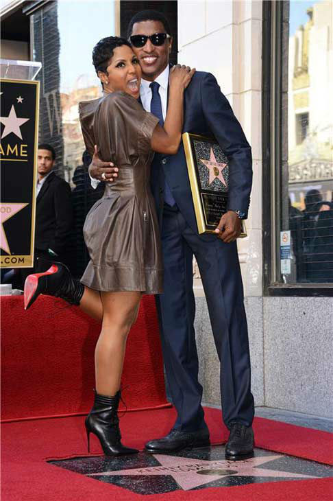 "<div class=""meta ""><span class=""caption-text "">Usa/Australia/Canada Rights Only-Los Angeles, CA - 10/10/2013 - Kenny ""Babyface"" Edmonds is honored with a star on the Hollywood Walk of Fame -PICTURED: Kenny ""Babyface"" Edmonds, Toni Braxton -PHOTO by: Lionel Hahn/Abacausa/startraksphoto.com -ABUSAv_122130  Editorial - Rights Managed Image - Please contact www.startraksphoto.com for licensing fee Startraks Photo New York, NY For licensing please call 212-414-9464 or email sales@startraksphoto.com (Lionel Hahn/Abacausa/startraksphoto.com)</span></div>"