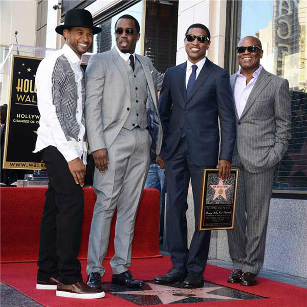 "<div class=""meta ""><span class=""caption-text "">Kenny 'Babyface' Edmonds, Usher, Sean P.Diddy Combs and L.A Reid appear at the ceremony for Edmonds, who received a star on the Hollywood Walk of Fame on Oct. 10, 2013. (Lionel Hahn/Abacausa/startraksphoto.com)</span></div>"