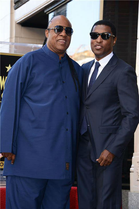 Stevie Wonder appears with Kenny &#39;Babyface&#39; Edmonds, who received a star on the Hollywood Walk of Fame on Oct. 10, 2013. <span class=meta>(Lionel Hahn&#47;Abacausa&#47;startraksphoto.com)</span>