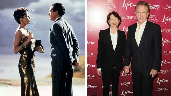 Warren Beatty and Annette Bening first met when Beatty cast Bening opposite him in the 1991 film &#39;Bugsy.&#39; They were married a year later and have four children together &#40;two sons named Stephen and Benjamin and two daughters named Isabel and Ella&#41;.  &#40;Pictured: Left -- Warren Beatty and Annette Bening in a still from &#39;Bugsy&#39;. Right -- Warren Beatty and Annette Bening at the 3rd annual Variety&#39;s Power of Women event in Los Angeles, California on Sept. 23, 2011.&#41; <span class=meta>(TriStar Pictures &#47; Sara De Boer &#47; startraksphoto.com)</span>