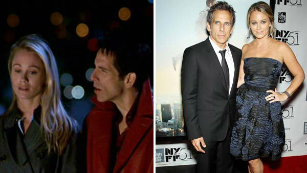 "<div class=""meta ""><span class=""caption-text "">Ben Stiller and Christine Taylor first met on the set of the unaired 1999 television pilot 'Heat Vision and Jack' and were engaged in November 1997. The duo wed in May 2000 and later co-starred in the comedy film 'Zoolander' together. They also have two children together, a daughter named Ella and a son named Quinlin.  (Picutred: Left -- Ben Stiller and Christine Taylor still from 'Zoolander'. Right -- Ben Stiller and Christine Taylor at 'The Secret Life of Walter Mitty' presentation in New York City on Oct. 5, 2013.) (Paramount Pictures / Marion Curtis / startraksphoto.com)</span></div>"