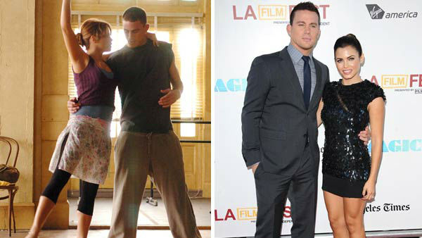 Channing Tatum and Jenna Dewan-Tatum first met on the set of the dance film &#39;Step Up,&#39; in which the couple played love interests. The couple wed in 2009 and welcomed their first child together, a daughter named Everly, in June 2013.  &#40;Pictured: Left -- Channing Tatum and Jenna Dewan-Tatum in a still from &#39;Step Up&#39;. Right -- Channing Tatum and Jenna Dewan-Tatum at the &#39;Magic Mike&#39; premiere in Los Angeles, California on June 24, 2012.&#41; <span class=meta>(Buena Vista Pictures &#47; Sara De Boer &#47; startraksphoto.com)</span>
