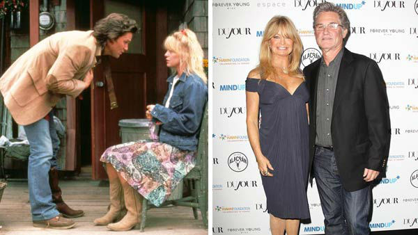 "<div class=""meta ""><span class=""caption-text "">Kurt Russell and Goldie Hawn first met in 1968 on the set of 'The One and Only, Genuine, Original Family Band,' and did not reconnect until 1983 during the filming of 'Swing Shift.' The couple has been together ever since, however have never made any plans to marry. They also co-starred in the film 'Overboard.'  (Pictured: Left -- Kurt Russell and Goldie Hawn Right in a still from 'Overboard'. Right -- Kurt Russell and Goldie Hawn at the Goldie Hawn and The Hawn Foundation's MindUP Program event in New York City on Sept. 25, 2013.) (Metro-Goldwyn-Meyer / Kristina Bumphrey / startraksphoto.com)</span></div>"