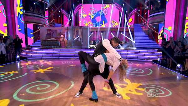 "<div class=""meta image-caption""><div class=""origin-logo origin-image ""><span></span></div><span class=""caption-text"">Elizabeth Berkley and Val Chmerkovskiy dance the Jive on week five of 'Dancing With The Stars' on Oct. 14, 2013. They received 26 out of 30 points from the judges. (ABC Photo)</span></div>"