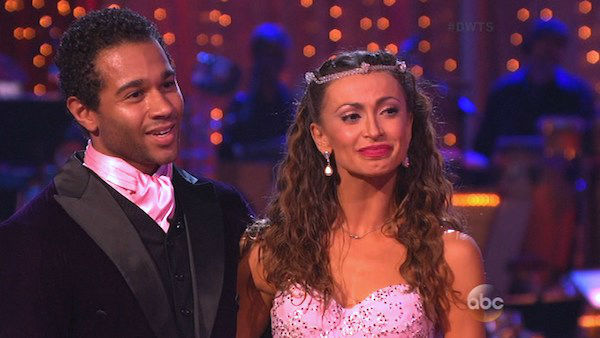"<div class=""meta image-caption""><div class=""origin-logo origin-image ""><span></span></div><span class=""caption-text"">Corbin Bleu and Karina Smirnoff danced the Foxtrot on week five of 'Dancing With The Stars' on Oct. 14, 2013. They received 28 out of 30 points from the judges. (ABC Photo)</span></div>"