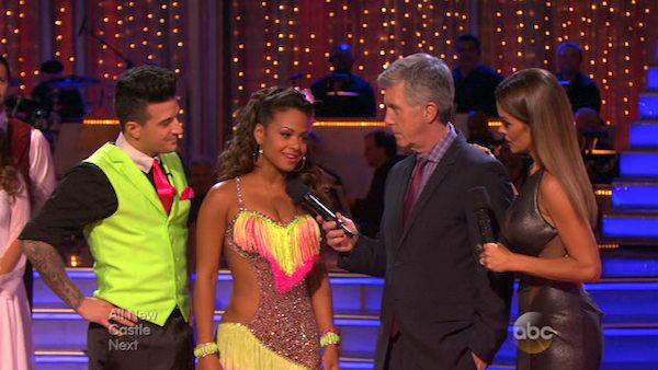 Christina Milian and Mark Ballas danced the Cha Cha Cha on week five of &#39;Dancing With The Stars&#39; on Oct. 14, 2013. They received 28 out of 30 points from the judges. <span class=meta>(ABC Photo)</span>