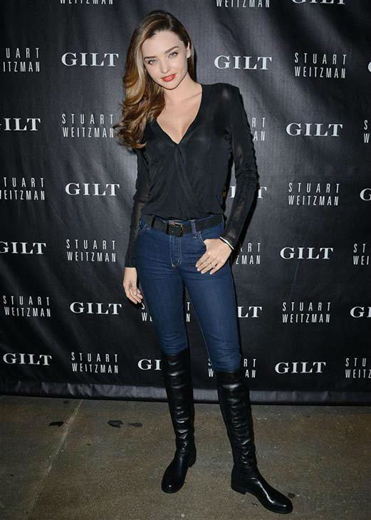 "<div class=""meta image-caption""><div class=""origin-logo origin-image ""><span></span></div><span class=""caption-text"">Miranda Kerr appears at Stuart Weitzman and Gilt Launch Exclusive Digital Pop-Up Shop to Celebrate the 20th Anniversary of 5050 Boot on Oct. 16, 2013. (Humberto Carreno/startraksphoto.com)</span></div>"
