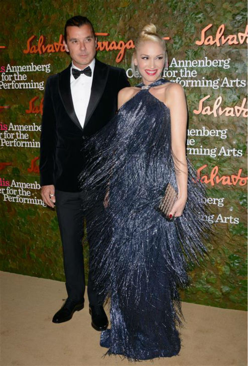 Gwen Stefani and husband Gavin Rossdale appear at the Wallis Annenberg Center for the Performing Arts Inaugural Gala in Beverly Hills, California on Oct. 17, 2013.