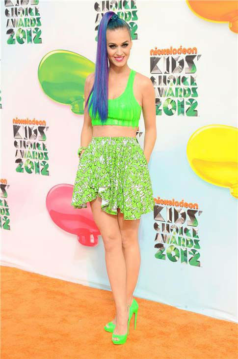 Katy Perry appears at the 2012 Nickelodeon Kids&#39; Choice Awards in Los Angeles, California on March 31, 2012.  <span class=meta>(Kyle Rover &#47; startraksphoto.com)</span>
