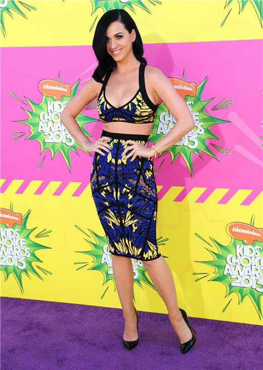 Katy Perry appears at the 2013 Nickelodeon Kids&#39; Choice Awards in Los Angeles, California on March 23, 2013.  <span class=meta>(Kyle Rover &#47; startraksphoto.com)</span>