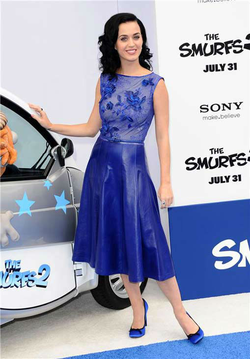 Katy Perry appears at the premiere of &#39;The Smurfs 2&#39; in Los Angeles, California on July 28, 2013.  <span class=meta>(Sara De Boer &#47; startraksphoto.com)</span>