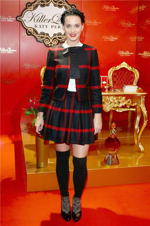 Katy Perry appears at the press conference for her fragrance &#39;Killer Queen&#39; in Berlin, Germany on Sept. 25, 2013.  <span class=meta>(James Coldrey &#47; startraksphoto.com)</span>