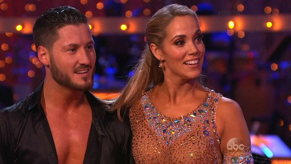 "<div class=""meta image-caption""><div class=""origin-logo origin-image ""><span></span></div><span class=""caption-text"">Elizabeth Berkley and Val Chmerkovskiy danced the Cha Cha Cha on week six of 'Dancing With The Stars' on Oct. 21, 2013. They received 30 out of 30 points from the judges. The two received 2 out of 4 extra points from the 'Switch-Up Challenge.' (ABC Photo)</span></div>"