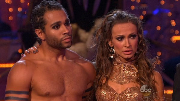 Corbin Bleu and Karina Smirnoff danced the Viennese Waltz on week six of &#39;Dancing With The Stars&#39; on Oct. 21, 2013. They received 23 out of 30 points from the judges. The two received 4 out of 4 extra points from the &#39;Switch-Up Challenge.&#39; <span class=meta>(ABC Photo)</span>