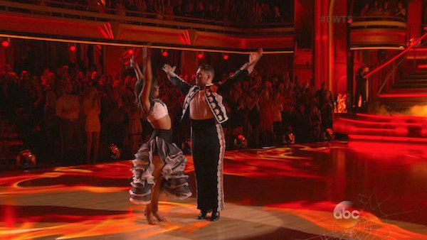 Jack Osbourne and Cheryl Burke dance the Paso Doble on week six of &#39;Dancing With The Stars&#39; on Oct. 21, 2013. They received 25 out of 30 points from the judges. The two received 2 out of 4 extra points from the &#39;Switch-Up Challenge.&#39; <span class=meta>(ABC Photo)</span>