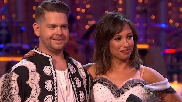 Jack Osbourne and Cheryl Burke danced the Paso Doble on week six of &#39;Dancing With The Stars&#39; on Oct. 21, 2013. They received 25 out of 30 points from the judges. The two received 2 out of 4 extra points from the &#39;Switch-Up Challenge.&#39; <span class=meta>(ABC Photo)</span>
